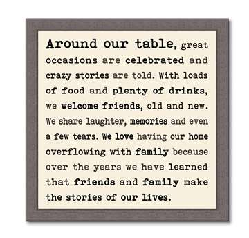 60381 AROUND THE TABLE - FRAMED TYPOLOGY 12X12