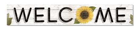 60445 WELCOME - SUNFLOWER - ABOVE BOARDS 46.5X8