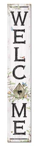 60708 WELCOME - BIRDHOUSE - PORCH BOARDS 8X46.5