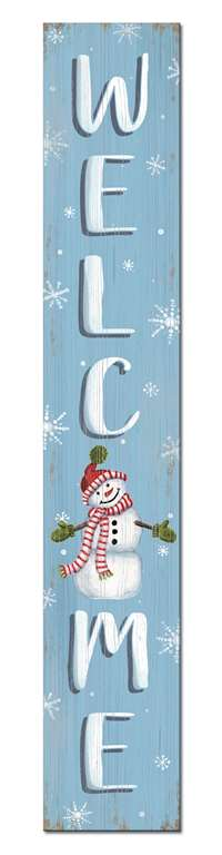 60713 WELCOME - SNOWMAN - PORCH BOARDS 8X46.5