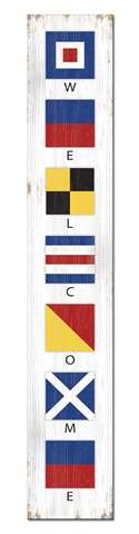 60730 WELCOME - FLAGS NAUTICAL - PORCH BOARDS 8X46.5