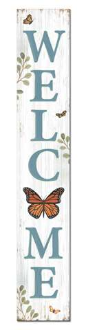 60735 WELCOME - MONARCH BUTTERFLY - PORCH BOARD 8X46.5