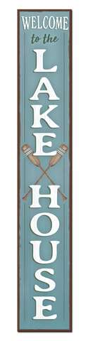 60763 WELCOME TO THE LAKE HOUSE - PORCH BOARD 8X46.5