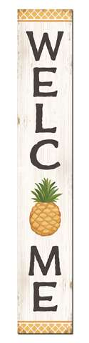 60771 WELCOME - PINEAPPLE - PORCH BOARD 8X46.5