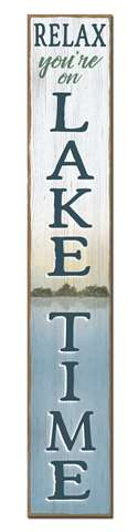 60782 RELAX, YOU'RE ON LAKE TIME - PORCH BOARDS 8X46.5