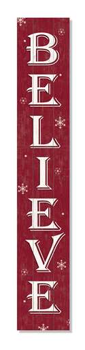 60863 WELCOME BELIEVE BURGUNDY -PORCH BOARDS 8X46.5