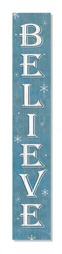 60866 WELCOME BELIEVE BLUE -PORCH BOARDS 8X46.5