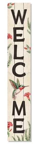 60941 WELCOME - HUMMINGBIRD PORCH BOARDS 46.5X8