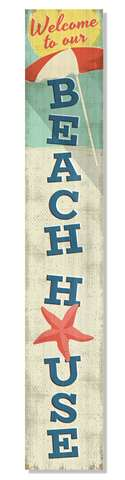 60944 WELCOME TO OUR BEACH HOUSE PORCH BOARDS 46.5X8