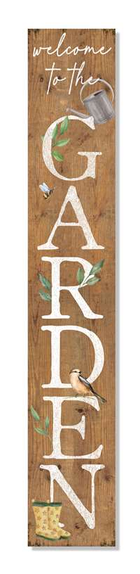 60948 WELCOME TO THE GARDEN - PORCH BOARDS 8X46.5