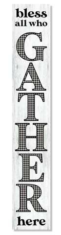 60953 BLESS ALL WHO GATHER GINGHAM - PORCH BOARD 8X46.5