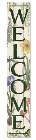 60963 WELCOME - BOTANICAL - PORCH BOARD 8X46.5