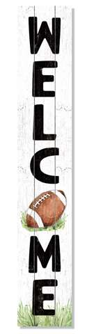 60971 WELCOME - FOOTBALL - PORCH BOARD 8X46.5