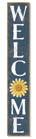 60983 WELCOME - BLUE W/ YELLOW DAISY - PORCH BOARDS 8X46.5