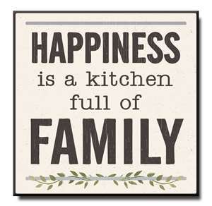 61030 HAPPINESS IS A KITCHEN FULL OF FAMILY - CHUNKIES 6X6