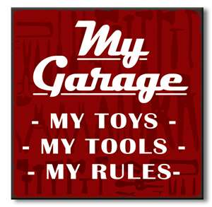 61051 MY GARAGE   MY TOYS- MY TOOLS -MY RULES - CHUNKIES 6X6