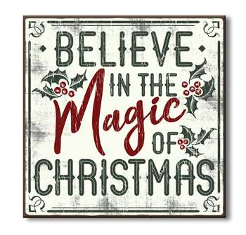61098 BELIEVE IN THE MAGIC OF CHRISTMAS - CHUNKIES 6X6