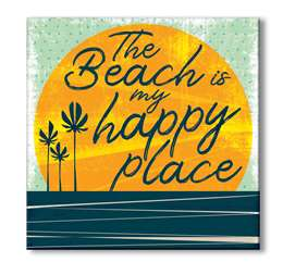 61150 THE BEACH IS MY HAPPY PLACE - 6X6