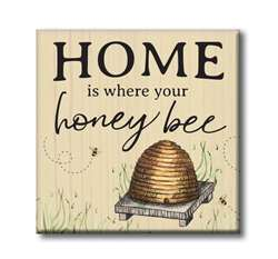 61211 HOME IS WHERE YOUR HONEY BEE - CHUNKIES 4X4