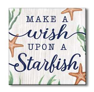 61329 MAKE A WISH UPON A STARFISH STAND-OUTS SQUARE 8x8
