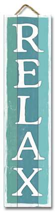 61505 RELAX TEAL BOARDS - STAND-OUT TALL 24X6