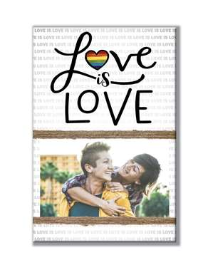 62007 LOVE IS LOVE - STANDING PHOTO HOLDER