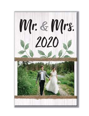 62020 MR. & MRS. 2020 - STANDING PHOTO HOLDER