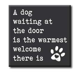 63034 A DOG WAITING BY THE DOOR IS THE WARMEST - CHUNKIES 4X4