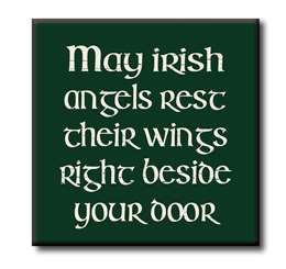 63105 MAY THE IRISH ANGELS REST THEIR WINGS  - CHUNKIES 4X4