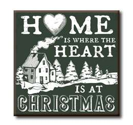 63154 HOME IS WHERE THE HEART IS AT CHRISTMAS - CHUNKIES 4X4