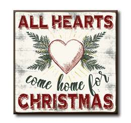63158 ALL HEARTS COME HOME FOR CHRISTMAS - CHUNKIES 4X4