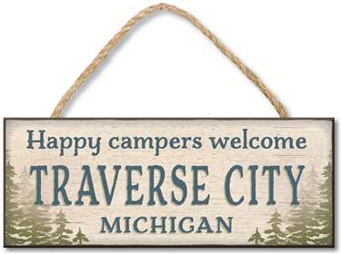 71361 CUSTOM TOWN 4X10 - HAPPY CAMPERS WELCOME