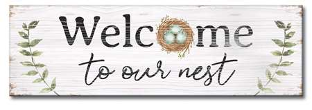 73232 WELCOME TO OUR NEST - 5X16