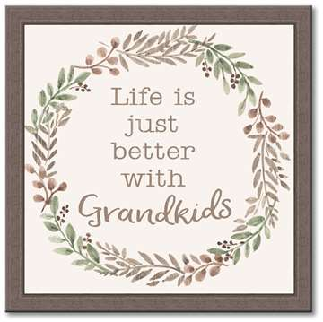 74631 LIFE IS JUST BETTER WITH GRANDKIDS - 12X12 FARMHOUSE FRAME
