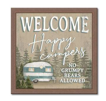 74644 WELCOME HAPPY CAMPERS - FRAME 12X12