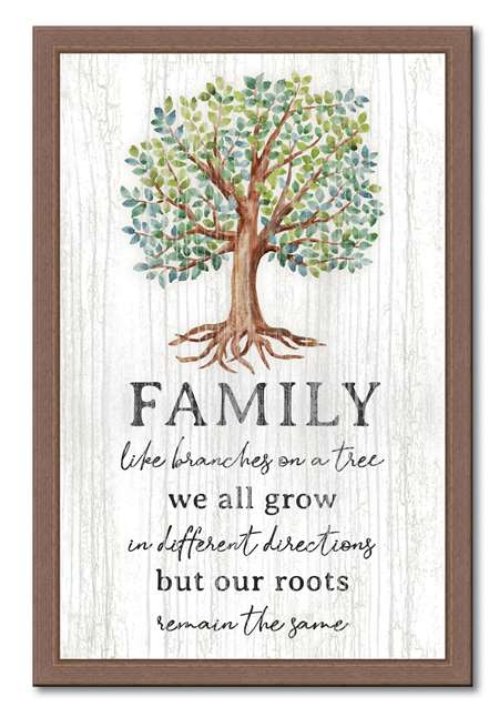 74650 FAMILY LIKE BRANCHES ON A TREE - 12X18 FRAMED