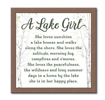 74655 A LAKE GIRL - 12X12 FRAMED