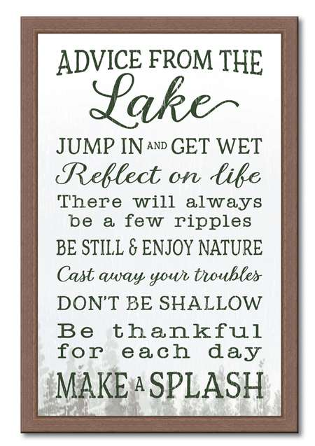 74656 ADVICE FROM THE LAKE - 12X18 FRAMED