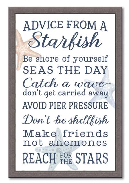 74661 ADVICE FROM A STARFISH - 12X18 FRAMED