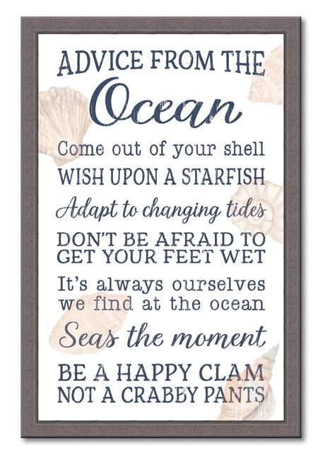 74662 ADVICE FROM THE OCEAN - 12X18 FRAMED