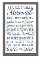74663 ADVICE FROM A MERMAID - 12X18 FRAMED