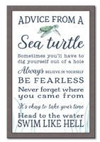 74664 ADVICE FROM A SEA TURTLE - 12X18 FRAMED