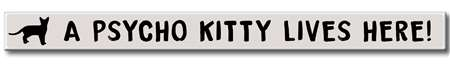 74841 A PSYCHO KITTY LIVES - WHITE SKINNIES 1.5X16