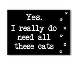 75146 YES, I REALLY DO NEED ALL THESE CATS - 4X5.5 BLOCK BLACK