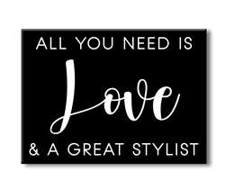 75147 ALL YOU NEED IS LOVE - 4X5.5 BLOCK BLACK