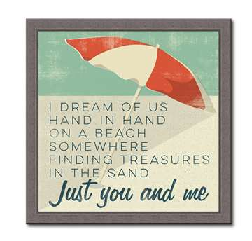 76051 I DREAM OF US HAND IN HAND - FARMHOUSE FRAMED 12X12