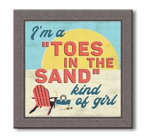 76058 I'M A TOES IN THE SAND - FARMHOUSE FRAME 7.5X7.5