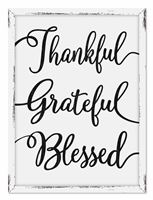 76127 HC THANKFUL GRATEFUL BLESSED - 18X24 FARMHOUSE FRAME
