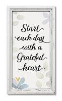 76160 HC START EACH DAY WITH GRATEFUL - 8X15 PROFILE FRAME