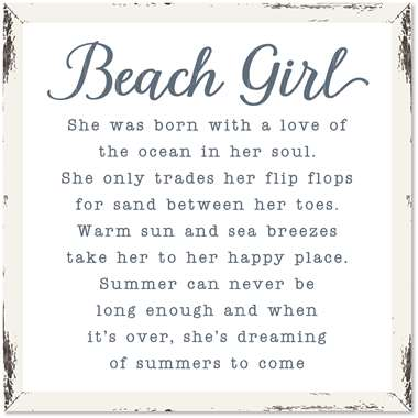 76207 HCC BEACH GIRL - 18X18 FARMHOUSE FRAME